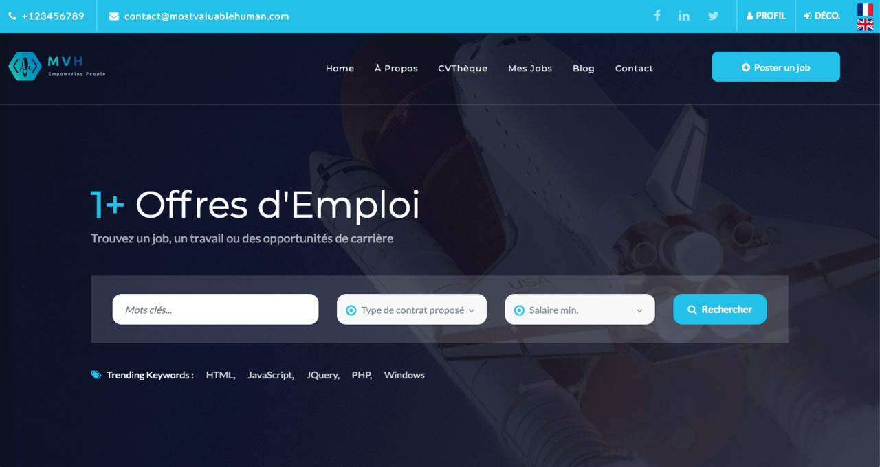 MVH : Site de recrutement de talents