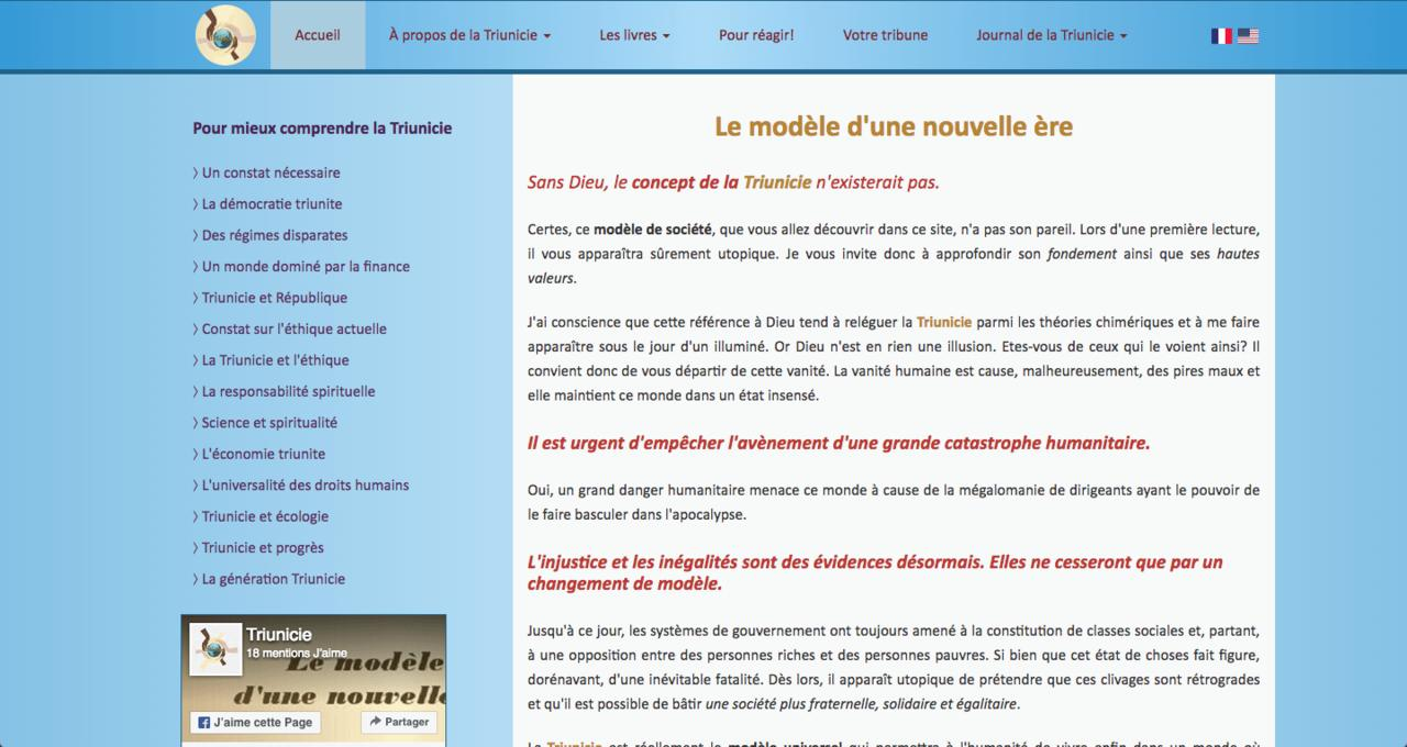 Triunicie : Responsive + Traduction